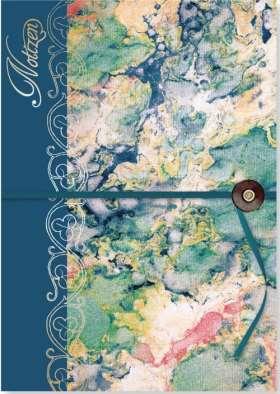 Notizbuch marmoriert. Bibliophila