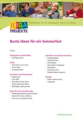 PDF: Bunte Ideen für ein Sommerfest (kigaprojekte)