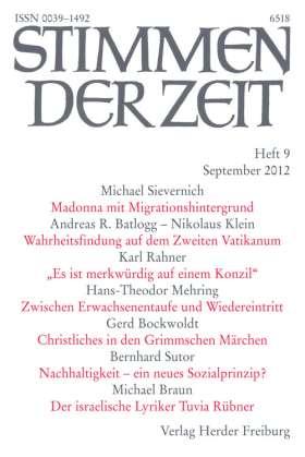 """PDF: """"Es ist merkwürdig auf einem Konzil."""" (StdZ 9/2012, S. 590-596)"""