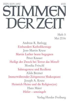 PDF: (Il)lyrische Abenteuer: Ästhetik an den Rändern (StdZ 5/2016, S. 323-334). Der immerwährende Zeitgenosse William Shakespeare (1564-1616)