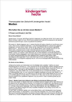 PDF: kindergarten heute Themenpaket. Medien