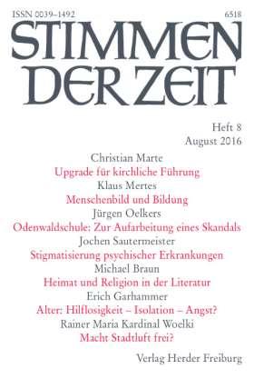 PDF: Menschenbild und Bildung (StdZ 8/2016, S. 507-514). Erfahrungen eines Schulleiters
