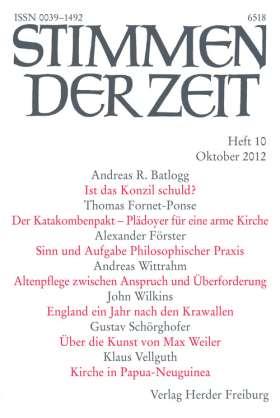 PDF: Zeichen der Hoffnung? (StdZ 10/2012, S. 715-718)