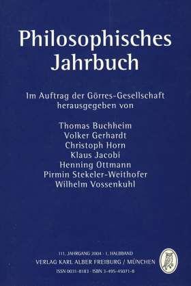 Philosophisches Jahrbuch. 111. Jahrgang 2004 - 1. Halbband