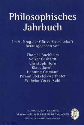 Philosophisches Jahrbuch. 111. Jahrgang 2004 - 2. Halbband