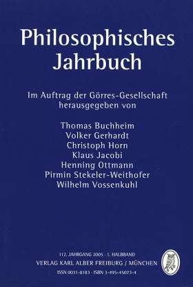 Philosophisches Jahrbuch 112. 1 / 2005