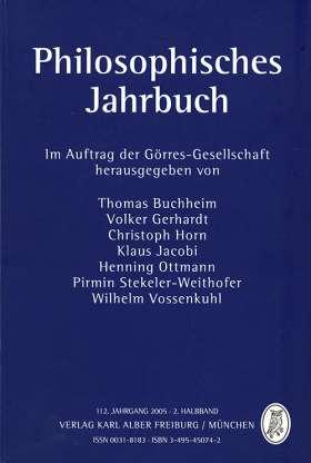 Philosophisches Jahrbuch 112. 2 / 2005