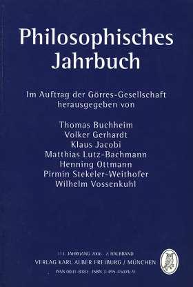 Philosophisches Jahrbuch. 113. Jahrgang 2006 - 2. Halbband