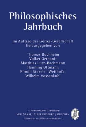Philosophisches Jahrbuch. 115. Jahrgang 2008 - 2. Halbband
