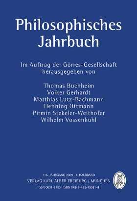 Philosophisches Jahrbuch. 116. Jahrgang 2009 - 1. Halbband