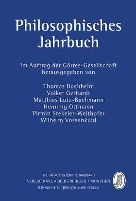 Philosophisches Jahrbuch. 116. Jahrgang 2009 - 2. Halbband