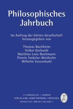 Philosophisches Jahrbuch. 117. Jahrgang 2010 - 1. Halbband