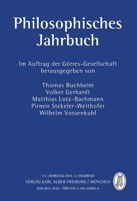 Philosophisches Jahrbuch. 117. Jahrgang 2010 - 2. Halbband