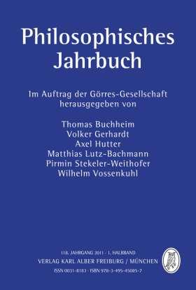 Philosophisches Jahrbuch. 118. Jahrgang 2011 - 1. Halbband