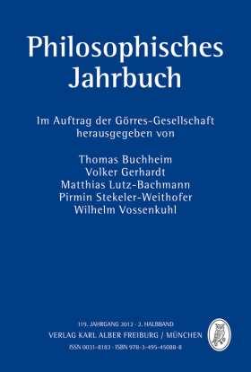 Philosophisches Jahrbuch. 119. Jahrgang - 2. Halbband