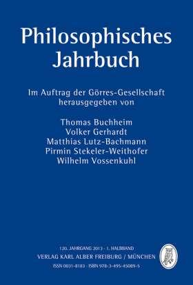 Philosophisches Jahrbuch. 120. Jahrgang 2013 - 1. Halbband