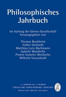 Philosophisches Jahrbuch. 121. Jahrgang 2014 - 2. Halbband