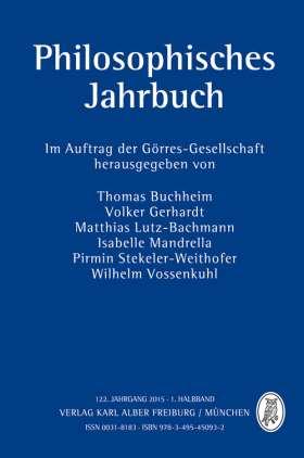 Philosophisches Jahrbuch. 122. Jahrgang 2015 - 1. Halbband
