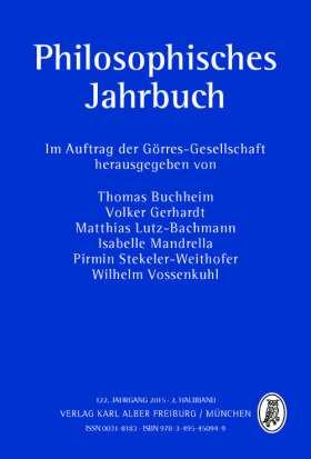 Philosophisches Jahrbuch. 122. Jahrgang 2015 - 2. Halbband