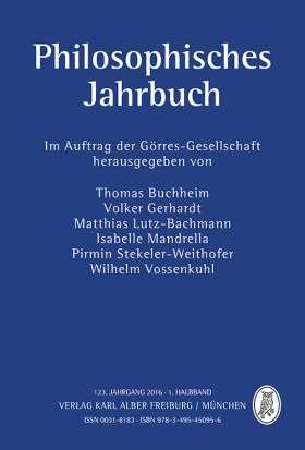 Philosophisches Jahrbuch. 123. Jahrgang 2016 - 1. Halbband
