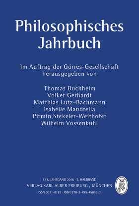 Philosophisches Jahrbuch . 123. Jahrgang 2016 - 2. Halbband