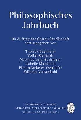 Philosophisches Jahrbuch. 124. Jahrgang 2017 - 2. Halbband
