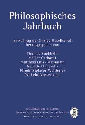 Philosophisches Jahrbuch. 125. Jahrgang 2018 - 2. Halbband