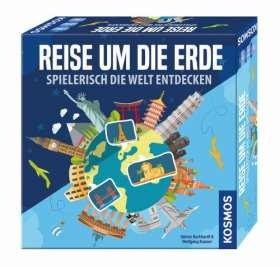 Reise um die Erde - Spielerisch die Welt entdecken. für 2 - 4 Spieler ab 8 Jahren