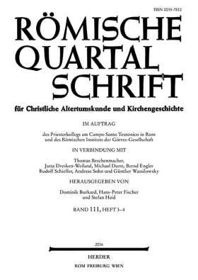Römische Quartalschrift - 3-4/2016