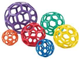 RubberFlex GrabBalls, 6er Set, 12 cm