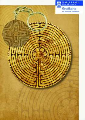 Schlüsselanhänger und Grußkarte Labyrinth