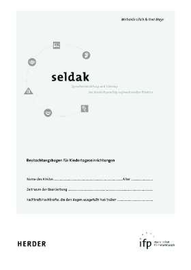 Seldak -  Sprachentwicklung + Literacy bei deutschsprachig aufwachsenden Kindern. 10 Sprachbeobachtungsbögen mit Begleitheft