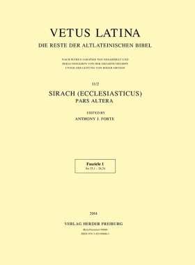 Sirach (Ecclesiasticus) - Pars altera. Fascicle 1 Sir 25,1 - 28,24
