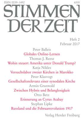 Stimmen der Zeit - 2/2017