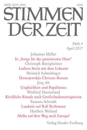 Stimmen der Zeit - 4/2017