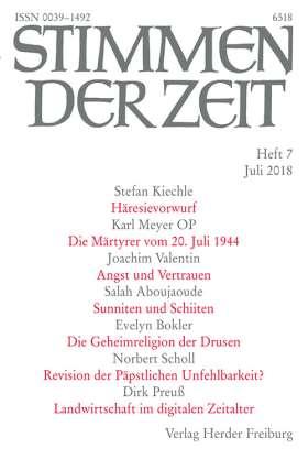 Stimmen der Zeit - 7/2018