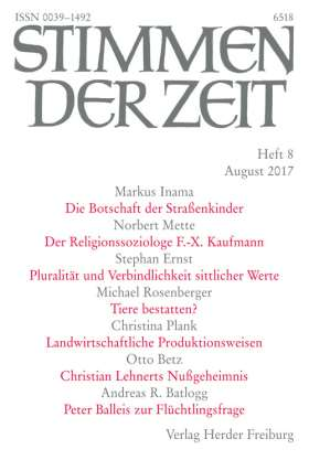 Stimmen der Zeit - 8/2017