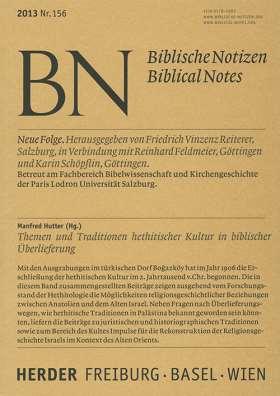 Themen und Tradition hethitischer Kultur in biblischer Überlieferung