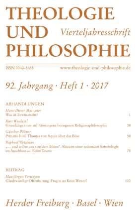 Theologie und Philosophie - 1/2017