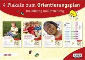 """Vier Plakate zum """"Orientierungsplan für Bildung und Erziehung"""""""