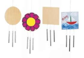 Windspiele Bastelset (Holz), 12 Stück