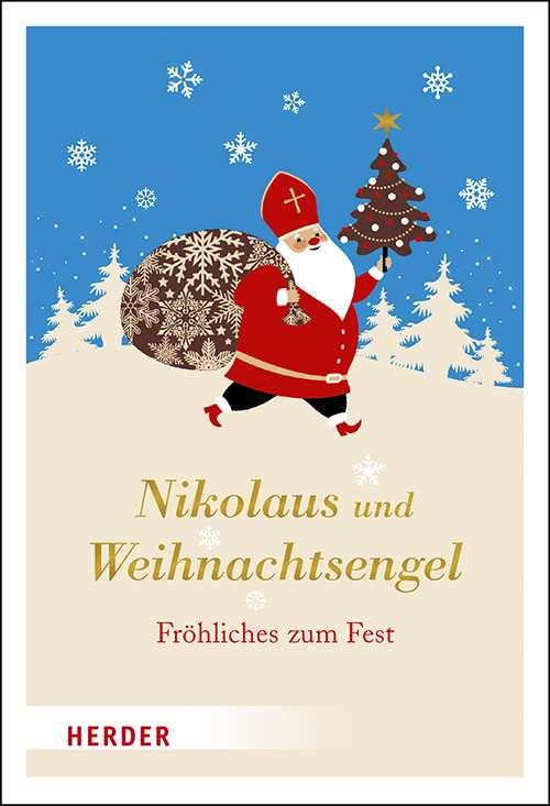 Nikolaus Und Weihnachtsengel Fröhliches Zum Fest