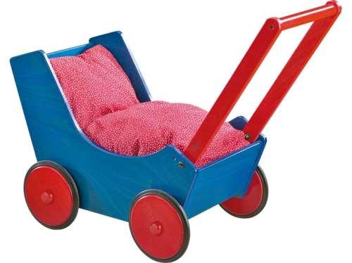 Puppenwagen Blau/Rot